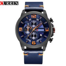$enCountryForm.capitalKeyWord Australia - Curren Hot Sale Popular Mens Watch Classics Quartz Analog Wrist Watches Chronograph Leather Strap Male Clock Relogio Masculino 8288