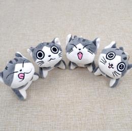 Cloth Bouquet Australia - Kawaii Grey Sitting 10CM CAT Plush Stuffed Toys , Bouquet Gift Soft Plush Doll Key Chain Cat Doll Gift