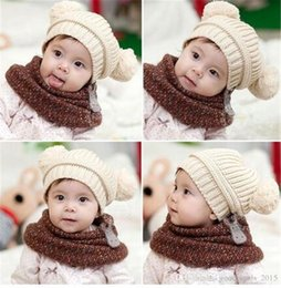 Boys Skull Hats NZ - 2017 new 10 pcs baby cub baby double ball wool knit hat baby boy ladies handmade cap children's cotton hat M055