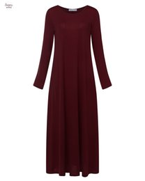 Discount velour plus size dresses - Dress Plus Size Women Vestidos Solid Sexy O Neck Long Sleeve Maxi Long Party Dresses Casual Loose Pockets Bodycon 2019