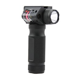 Chinese  Tactical Quick Detachable Fore Grip Rifle CREE LED Flashlight Hunting Gun Light with Integrated Red Laser manufacturers