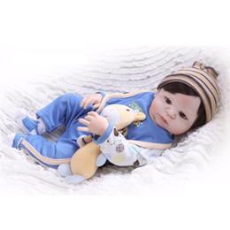 $enCountryForm.capitalKeyWord UK - Real 57CM Full Body Silicone Girl Reborn Babies Doll Toys Prince Babies Doll Wig Hair Birthday Gift Kids Brinquedos
