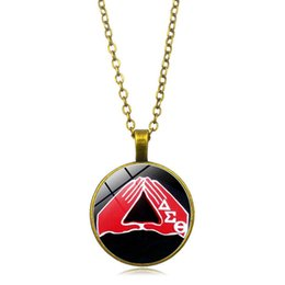 Glasses Trade Australia - New Foreign Trade Accessories Women's Protection Association Time Gemstone Necklace Glass Dome Pendant Necklace Body Chain