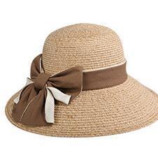 Ingrosso La primavera / estate 2019 i nuovi cappelli di paglia della signora del venditore caldo escono per un cappello grande della spiaggia di suntan della spiaggia di outing esterno