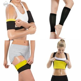body weight suit Australia - Women Sweat Shapers Sauna Slimming Leg Hot Polyester Body Shaper Arms Sleeves Shirt Thigh Trainer Calf Shapewear Weight Loss Suits