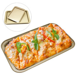 Chinese  Non-stick Bread Cake Baking Tray Food Grade Stainless Steel Baking Dishes Tools 28.4*17.8*2.6cm Deep Rectangular Baking Pans BH0642-1 TQQ manufacturers