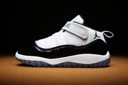 shoes size 27 Australia - Boy & girl Bred History of Flight Kids basketball shoes children athletic sports boy girl sneakers size 22-27