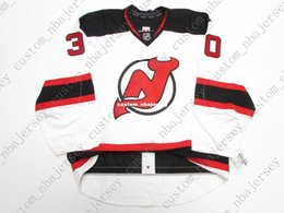 Brodeur Jersey Xl Australia - Cheap custom BRODEUR 30 NEW JERSEY DEVILS AWAY JERSEY stitch add any number any name Mens Hockey Jersey XS-5XL