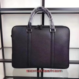 $enCountryForm.capitalKeyWord Australia - Free shipping hot sell men bag import genuine leather briefcase fashion double zipper man computer bag with long strap