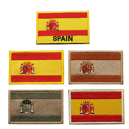$enCountryForm.capitalKeyWord Australia - Spain Flag 3D Embroidered Armband Military Tactics Special Forces Morale Badge Camouflage Clothing Backpack Outdoor Sports Patch
