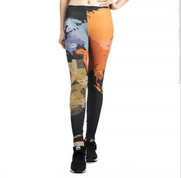 3848a1773b1 Women Yoga trousers pants Tights trousers Female Nine High waist dance  active Leggings Digital printing milk silk elasticity Skinny