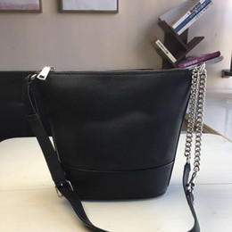 punch bags NZ - Women's small stray bucket bag can be slung on one shoulder, can be punched by yourself, full leather material