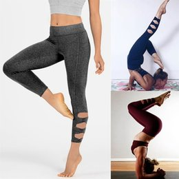 yoga pants plus Canada - Women Casual Thin Skinny Workout Leggings Fitness Sports Gym Running Yoga Athletic Pants sports leggings fitness gothic #119984