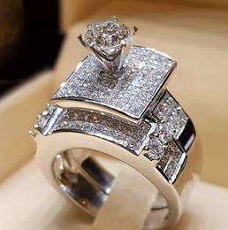 75b49c9fff Vecalon Brand Luxury Female Big Ring Set Fashion 925 Silver Love Bridal  Promise Engagement Ring Vintage Diamond Rings For Women