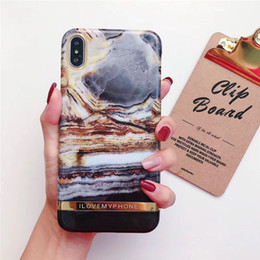 iphone abstract Australia - Marble Phone Case For iPhone X 6 6S 7 8 Plus Cover Fashion Abstract Art Oil Painting Cases Coque for iPhone6 Plus
