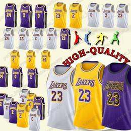 Cheap sales Los Angeles 23 LeBron James Jerseys Laker 24 Kobe Jersey Bryant  0 Kuzma 2 Bal Jersey 2019 new 85dc99fe9