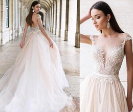 $enCountryForm.capitalKeyWord Australia - Julie Vino 2019 sexy Wedding Dresses sheer lace bohemia long Bridal Gowns Sweep Train backless elegant beach Wedding Dress Custom Made