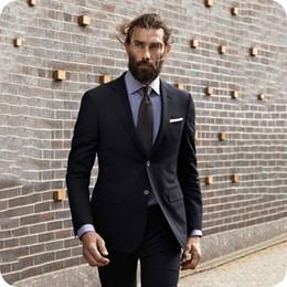 8ddb0807fb9 Plus Size Business Wear Australia - Latest Coat Pants Designs Black Men  Suits Casual Business Man