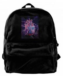$enCountryForm.capitalKeyWord Australia - Stranger things season 3 art Canvas Shoulder Backpack Funniest School Backpack For Men & Women Teens College Travel Daypack