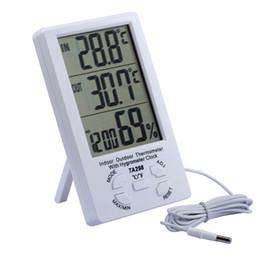$enCountryForm.capitalKeyWord Australia - Home Digital Thermometer Hygrometer LCD Display Temperature Humidity Meter Alarm Clock C F Kitchen Weather Station 1.5M Sensor
