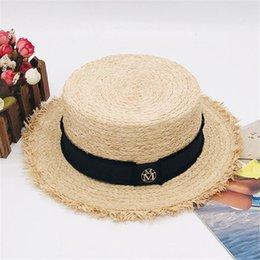 $enCountryForm.capitalKeyWord Australia - Fashionable Designer Hats Caps For Womens Wide Brim Hats MM Letter Four Seasons Brand Cap New Arrived Hot Sale Grass Hat Top High Quality