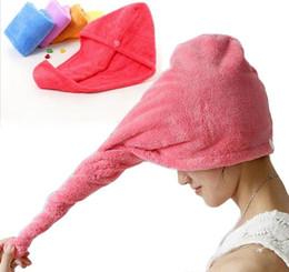 $enCountryForm.capitalKeyWord Australia - Microfiber Quick Dry Shower Hair Caps Magic Super Absorbent Dry Hair Towel Drying Turban Wrap Hat Spa Bathing Caps YW140