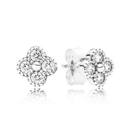 Chinese  Pandora's new hot sale 925 silver micro-set round earrings Japan and South Korea simple earrings jewelry students wild women's accessories manufacturers