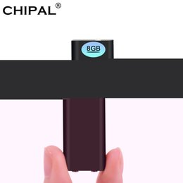 flash drive memory pen drives Australia - CHIPAL 3 in 1 8GB Voice Recorder pen Global Smallest Digital Audio Mini Dictaphone + MP3 Player + USB Flash Drive Memory Storage
