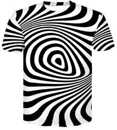 Cheap Casual Clothing online shopping - Top Cheap Design Casual loose printed t shirt men s clothing summer new vertigo Abstract stereogram Print short sleeve T shirt apparel Sport