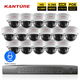 16ch Camera Australia - H.265 16CH 5MP 4K POE CCTV NVR system 16X4MP Audio IP66 VandalProof security In Outdoor POE IP camera Video Surveillance set P2P
