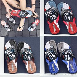 brown rubber flip flops Australia - good quality Leisure Rubber Slide designers Sandal Slippers blue Red black Stripe Design Men Classic men Summer Outdoor beach Flip Flops