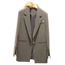 $enCountryForm.capitalKeyWord UK - Spring Autumn Suit jacket Women White Black Pink Korean Elegant Solid Loose Casual Blazer jacket Womens Formal Coat