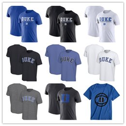 Devil camp online shopping - Duke Blue Devils Fashion Summer Short Sleeve t shirt Wordmark Basketball Practice Performance Round neck tee shirt
