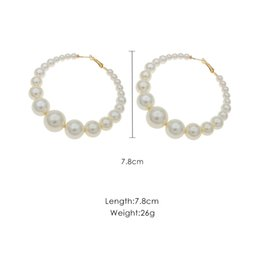 $enCountryForm.capitalKeyWord Australia - Exaggerated New Circle Imitation Pearl Female Temperament Atmosphere Wild Personality Earrings J190628