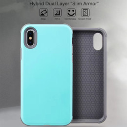 $enCountryForm.capitalKeyWord NZ - Slim Armor Hybrid Case for iphone XS MAX XR X Phone Case for iphone 7 8 plus Soft TPU Bumper Dual Layer Case