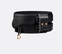 Black leather girdles online shopping - 2019 new fashion ladies CM belt ladies fashion dress evening dress girdle belt with box