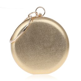 dark silver clutch bag NZ - Round Shaped Women Evening Bags Diamonds Simple Red blue silver black gold Mixed Day Clutches Chain Shoulder Bags
