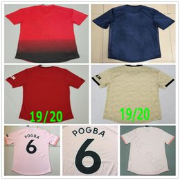 Wholesale Player Version Man Soccer Jerseys POGBA LUKAKU ALEXIS MARTIAL LINGARD RASHFORD Custom Home Away United Third Football Shirt