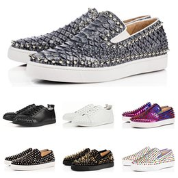 586de0abd1f Designer fashion luxury Brand Red Bottom Studded Spikes Flats shoes For Men  Women black white Party Lovers casual Sneakers free shipping