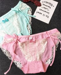 4f6261beb3 Cute Lolita Underwear Australia - 100% Real Photoes side tie close Lovely Cute  Lolita Kawaii