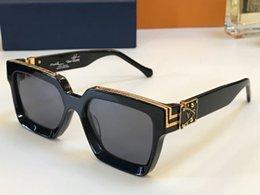 Louis Vuitton LV96006 дизайнерские солнцезащитные очки мужчины женщины Франция Марка полный кадр прямоугольник металлические солнцезащитные очки класса люкс c шарнир деревянные