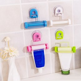 Wholesale Multifunction Toothpaste Facial Cleanser Hanging Storage Rack Home Commodity Bathroom Tube Toothpaste For Kitchen