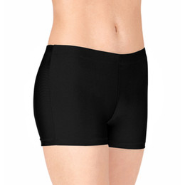 Wholesale lycra costumes for women online – ideas Ensnovo Adult Nylon Lycra Dance Shorts Women Dance Shorts Lycra Costume Sexy Spandex Low Waist Short for Gymnastics
