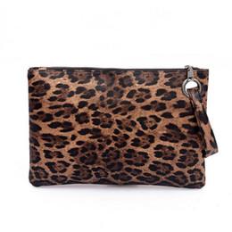Hand Bags Leopard Prints Australia - Women's Pu Leopard Print Evening Clutches Hand Bags Temperament Elegant Retro Fashion Clutch Bag Vintage Handbag Ladies Handbags