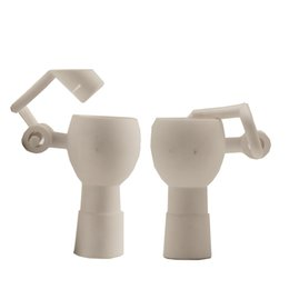 $enCountryForm.capitalKeyWord UK - Ceramic Honey Bucket 14mm & 18mm Male Female Joint Dab Rig Ceramic Swing Arm Hand Tool Oil Water Pipe Glass Bong