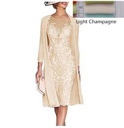 $enCountryForm.capitalKeyWord Australia - Elegant 2019 Mother Of The Bride Dresses Sheath 3 4 Sleeves Knee Length Lace Pearls Wedding Party Dress Mother Dress For Wedding J190622