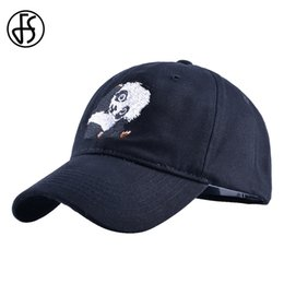 7525d647dae FS Hight Quality Animal Baseball Cap For Women Men Snapback Hip Hop Bone  Feminino Summer Panda Embroidery Black Navy Trucker Hat