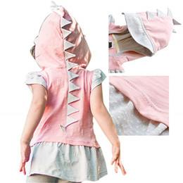 $enCountryForm.capitalKeyWord Australia - Girls Dress Princess Dress Baby Clothes Summer Short Sleeve Dot Dinosaur Cap Skirt Dresses Evening Dress Beach Dresses Kids Clothing Q411