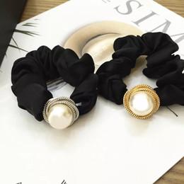 $enCountryForm.capitalKeyWord Australia - Korean personality fashion screw thread big pearl with mark hair ring head rope base rubber band Ball head hair decoration