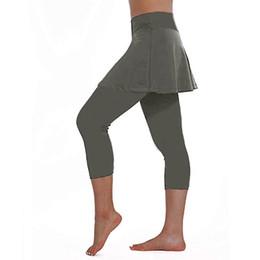 Culottes Leggings Australia - Women's Casual Skirt Leggings Tennis Pants Patchwork Yoga Pants Sports Fitness Cropped Culottes Elastic Sports Stretch Leggings